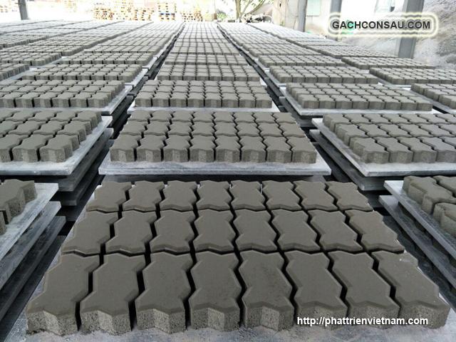 Gạch Việt - http://gachviet.com Kho Xưởng SX gạch con sâu lát vỉa hè, gạch bê tông tự chèn, gạch block tự chèn